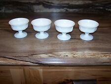 VINTAGE INDIANA COLONY HARVEST GRAPE MILK GLASS SHERBERT CUPS ~ Set of 4