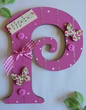 Butterfly Personalised Wooden Letter Initial **ANY LETTER with ANY NAME ** (Cer)