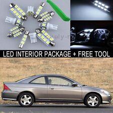 White Interior Package Light 9 Bulb Kit For 2001 2005 Honda Civic Sedan + Tool J