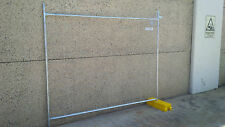 TEMPORARY FENCING FENCE SET INCLUDES 2.4m PANEL, BASE & CLAMP. Weldmesh