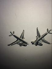Boeing 737-300 C66 Aircraft Jet Airliner Fine English Pewter Cufflinks