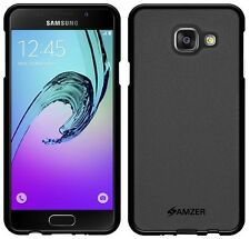AMZER Black Pudding Matte TPU Case Back Cover For Samsung GALAXY A3 2016 SM-A310