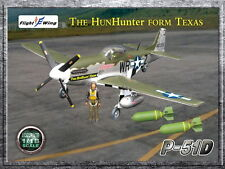 """Flight Wing WWII US P-51D """"The Hun Hunter From Texas"""" MUSTANG Fighter Plane 1/18"""