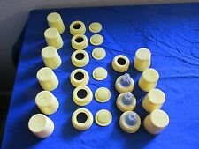 Medela Baby Bottle Lot of Storage Caps, Bottle Nipple Covers Nipples