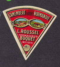 Ancienne petite  étiquette Fromage France BN12610 Camembert Roussel