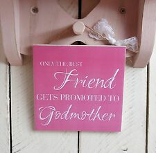 Handmade christmas plaques sign gift present friend best godmother pink quote