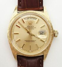 RARE 18k Gold ROLEX President Vintage 1964 Day/Date Ref 1806 36mm Mens Watch