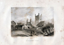 Tewkesbury Abbey 1842 original illustrated chapter (42 p.) with 22 engravings