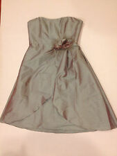 JIM HJELM Occasions Iridescent Gray Strapless Cocktail Formal Dress Size 10