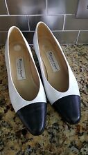 "Etienne Aigner ""Ann Marie"" Black & White Leather Spectators Women's Size 7M"