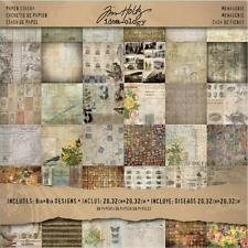 "TIM HOLTZ Idea-ology Paper Stash Double SIded Paper Pad 8x8 ""Menagerie"