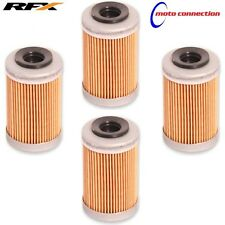 RFX RACE SERIES ENGINE OIL FILTERS x 4 - NEW 2017 KTM SXF350 SXF450   50400