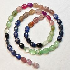 "Natural Organic Emerald Ruby Sapphire Tumbled Nugget Beads 14"" Strand"