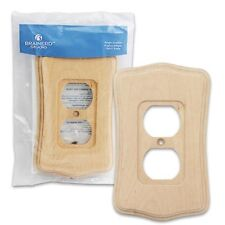 NEW QUANTITY OF 10 Deluxe Wood Outlet Switch Wall Plate Cover Beveled Edge