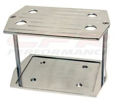 BALL MILLED POLISHED BILLET ALUM OPTIMA GROUP 35 BATTERY TRAY- CHEVY FORD MOPAR