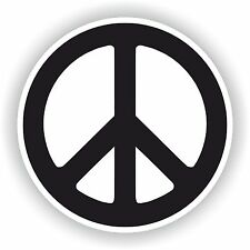 Peace Symbol Sticker for Helmet Bumper Caravan Laptop Book Car Motorcycle Guitar