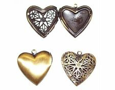 Oil Diffuser Solid Perfume Scent Locket empty Bronze Filigree Heart Pendant 528x
