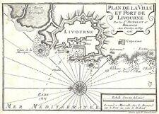 Antica mappa, Plan de la ville et PORT DE livourne