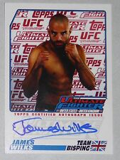 James Wilks Signed UFC 2009 Topps Card TUF The Ultimate Fighter 9 1st Autograph