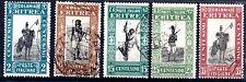1930 ERITREA SOGGETTI AFRICANI 5 VALORI USATI C/8692