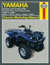 1993 2000 2001 2002 2003 2004 2005 Yamaha Kodiak Grizzly ATV Repair Manual 2567
