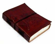 Firu Leather Diary - Horse Handmade Paper Engraved Blank Leather Bound Journal