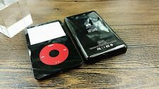 black faceplate back case cover housing red clickwheel for ipod 5th video 80gb
