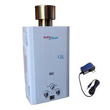 NEW OUTDOOR LPG PROPANE GAS TANKLESS WATER HEATER 12L
