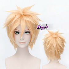 Popular 30cm Blonde Anime Hair Cosplay Wig Kagamine Len VOCALOID + Wig Cap