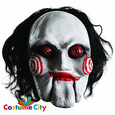 Adults Official SAW Overhead Billy Jigsaw Mask Halloween Fancy Dress Accessory