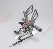 Gray CNC Adjuster footrest Racing Rearset for Suzuki SV650 SV650S SV1000 S