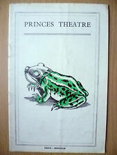 Princes Theatre Programme- Firth Shephard's THE FROG by Ian Hay & Edgar Wallace