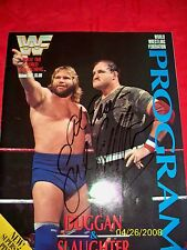 WWE LEGEND SGT.SLAUGHTER SIGNED  PROGRAM