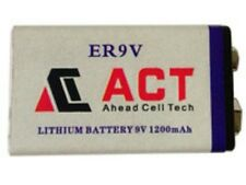Accu Batterie Pile 9V Lithium 1200mAh 6LR61 Battery PP3