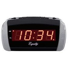 "30240 Equity by La Crosse AC Powered Super Loud .9"" Red LED Digital Alarm Clock"