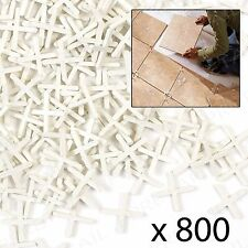 800 x CROSS TILE SPACERS 3mm Tiling/Grouting Spacing Wall Floor Bathroom Kitchen