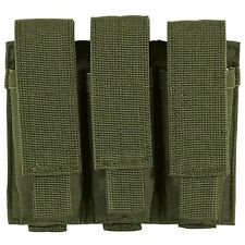 Voodoo Tactical Triple Pistol Magazine Pouch w/ Adjustable Straps MOLLE OD Green
