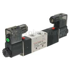 4V230C-08 DC12V Double Head 3 Position 5 Way Pneumatic Solenoid Valve HOT