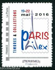 NOUVEAU timbre adhésif 2016 PARISPHILEX TYPE II SANS MENTION j-100