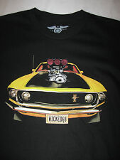 Mens Graphic Black T shirt Small NWT  Mustang Wicked 69