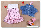 Baby Girls Toddler Kids Clothes Suit Tops+ Pink Dress Outfit Set Clothing 0-3T