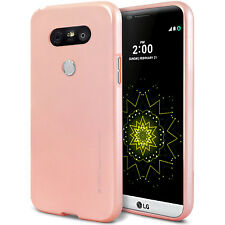 LG G5 G4 G3 V10 Case MERCURY GOOSPERY Ring2 i Clear Jelly Metal Soft Metal Cover