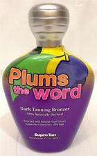 Supre Tan PLUMS THE WORD Plum Dark Bronzer Indoor Tanning Bed Lotion