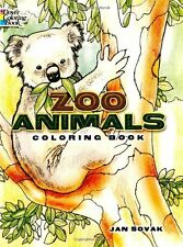 Coloring Book For Adults Zoo Animals Wild Safari Painting Pattern Art Relax Kids