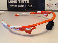 Oakley Radarlock Blood Orange w/ White Oakley Icons - SKU# 9206-08 OEM Oakley