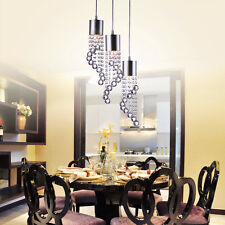 Luxury Modern Crystal Pendant Light LED Ceiling Lamp Chandelier Deco Lighting