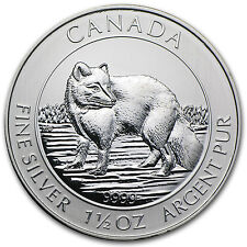 2014 1.5 oz Silver Canadian $8 Arctic Fox - Brilliant Uncirculated - SKU #81363