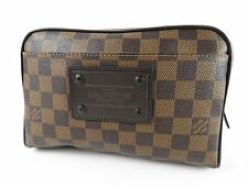 Auth LOUIS VUITTON Bum Bag Brooklyn Waist Belt Pouch Body Bag Damier N41101 4408