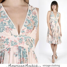 Vintage 70s Gunne Sax Dress Boho Wedding Pink Floral Hippie Party Midi Mini S