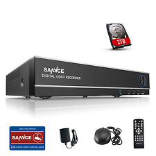 Sannce 8CH 960H Vedio Recorder DVR for CCTV Home Surveillance System 1TB HDD UK